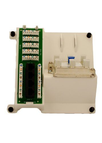 Leviton 47603-DP6 Compact Series: 1 x 4 Combo Bridged Phone and Data Board and 6-Way Video (Bridged Telephone)