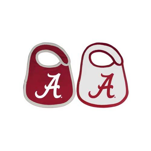 Game Day Outfitters NCAA Alabama Crimson Tide Infant Bib Logo (2 Piece), One Size, Multicolor by Game Day Outfitters