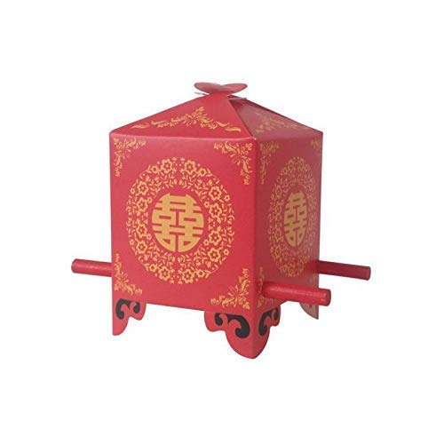 (Chinese Red Candy Box, Wedding Gift Bags, Candy and Gift Boxes (50))