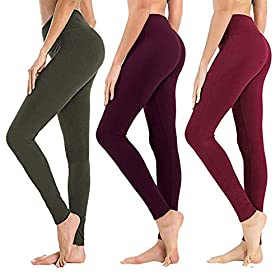 High Waisted Leggings For Women Soft Athletic Tummy Control Pants For Running Cycling Yoga Workout Reg Plus Size 3 Pack Olive Vintage Violet Wine Extra Size Us 24 32