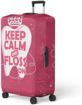 Pinbeam Luggage Cover Dental Care Motivation Dentist Day and Tooth Travel Suitcase Cover Protector Baggage Case Fits 22-24 inches