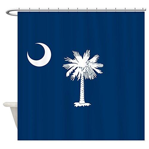 South Carolina Printed Curtain - CafePress South Carolina Flag Decorative Fabric Shower Curtain (69