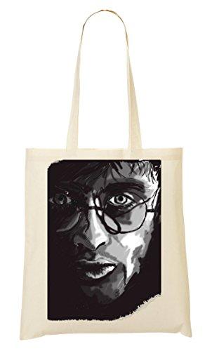 A Del Harry Il Dello Potter Disegno Shopping Ritratto Mano Ventilatore Bag wz6q1Uzt