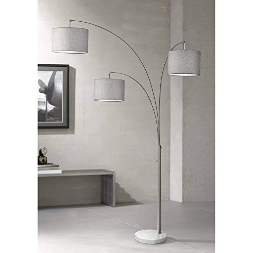 Adesso 4250-22 Bowery Arc 3-Light Floor Lamp, Steel, Smart Outlet Compatible, 83""
