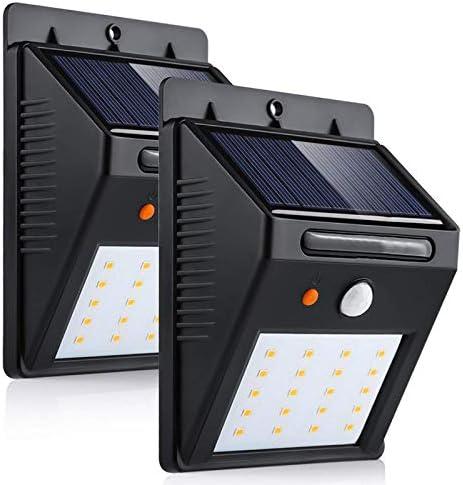 2x LED a luce solare lampada da giardino Lampada esterno accensione automatica al crepuscolo