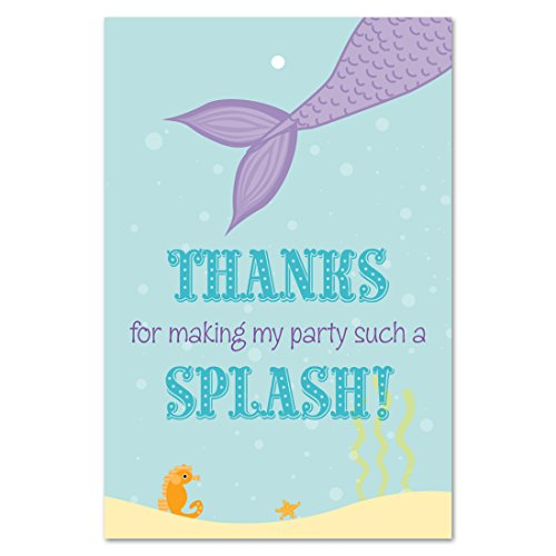 Mermaid Birthday Party Thank You Favor Tags (2