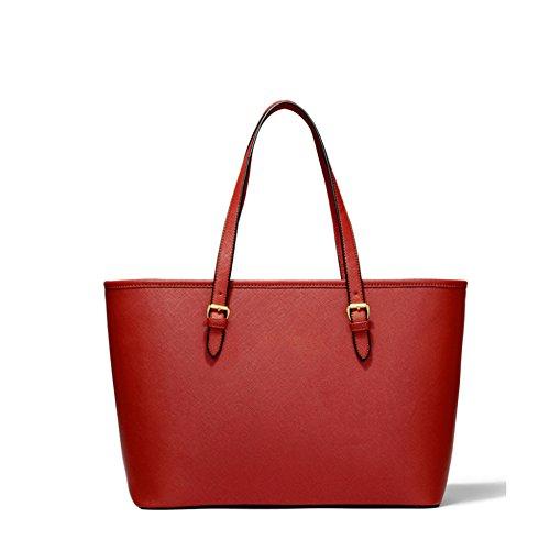 Fourre Main Simple tout Capacité Haute à à Noir Femmes Cuir Mode En Brun Sac Les Dames Red Main Pour Classique Sacs YANJJ Sacs 5XawqFZx