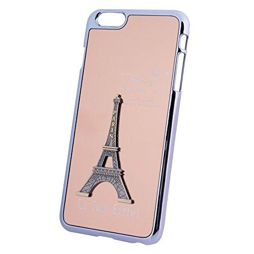 Phone Taschen & Schalen Diamant verkrustete Parfüm Flasche Form Kunststoff Fall mit Kette für iPhone 6 Plus & 6S Plus ( Color : Pink )
