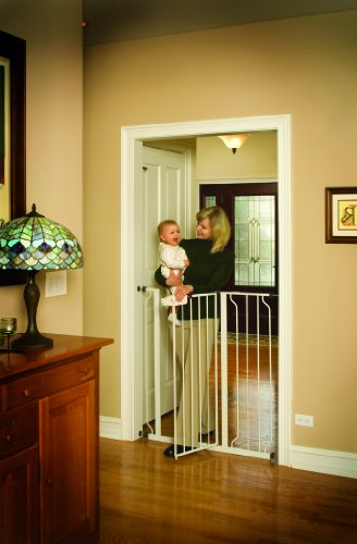 41wCRrmUI%2BL - Regalo Easy Step Extra Tall Walk Thru Gate, White