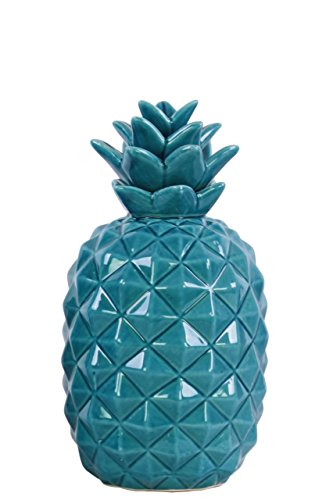 Urban Trends Ceramic Pineapple Figurine SM Gloss Finish Blue, Small,