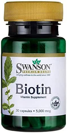 Swanson Biotin 5Vitamin 000 mcg 30 Capsules