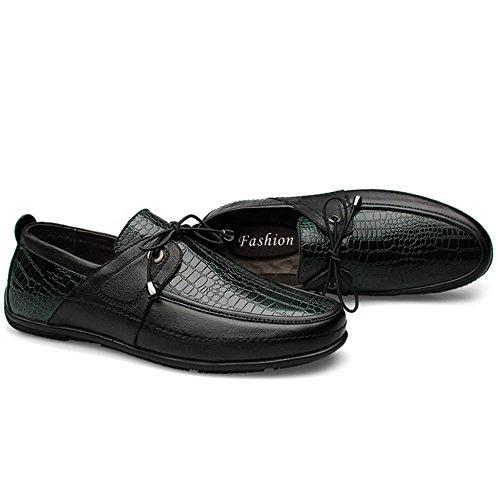 Piatte MERRYHE Flats On Piatte Green Da Guida Scarpe Slip Pelle Scarpe Da Loafer Da Uomo In Barca Lacci Classic Con Scarpe gwSgFx1q