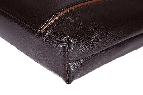 Bolso De Cuero De Hombro Bolso Hombre Paquete De Bolsa De Negocios Black