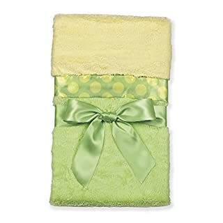 "Bearington Baby Small Silky Soft Security Blankie (Green & Yellow) 16"" X 16"""
