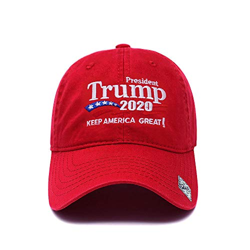 - Trump 2020 Keep America Great Campaign Embroidered USA Hat | Baseball Bucket Trucker Cap (Cotton Red)
