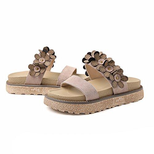 Kaki Plates Femmes JRenok Loisir Sandales Plates Chaussures Antidérapantes Mode 34 43 Casual Élégant Sandales TIaaOqg