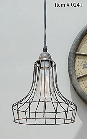 old Cage Wire steel antqiue replica factory industrial pendant light ...