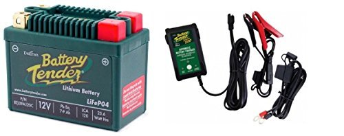 BTL09A120C Lithium 12V 120 CCA + Battery Tender Junior 800 022-0199-DL-WH Combo