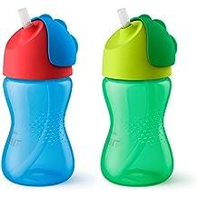 Philips Avent My Bendy Straw Cup, 10oz, 2pk, Blue/Green, SCF792/21