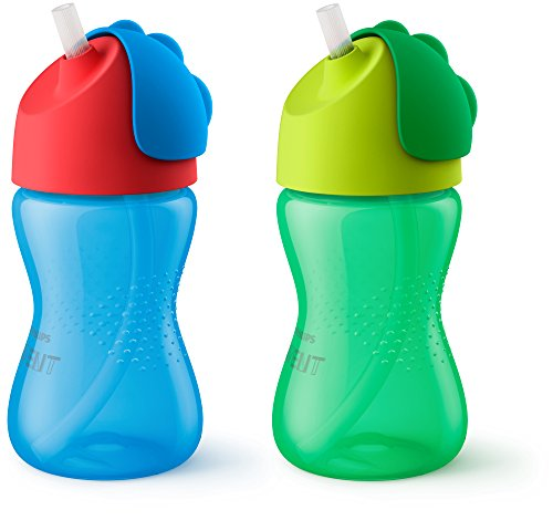 bendy straw cups bottles blue
