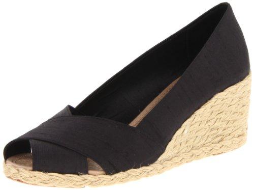 Ralph Lauren Women's Cecilia Wedge Sandal,  Black, 5.5 B(M) US (Womens Ralph Lauren Sale)