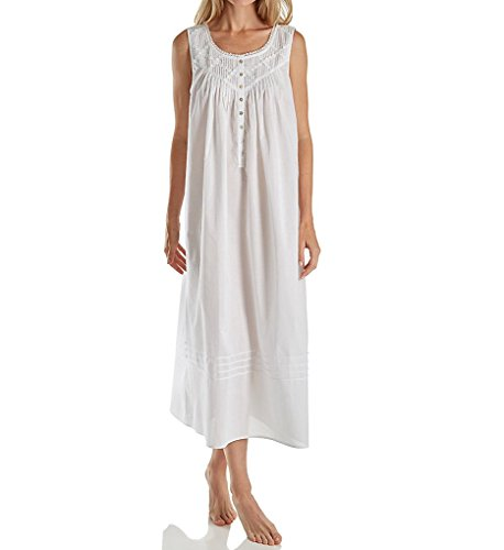 Eileen West Everyday Sleeveless Ballet Nightgown (5219842) M/White