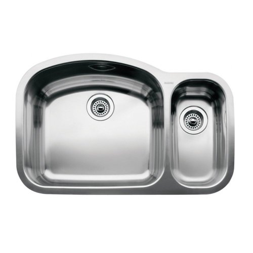 Wave Undermount Stainless Steel 32 in. 0-Hole Reverse 1-1/2 Double Bowl Kitchen (Wave Stainless Steel Undermount Sink)