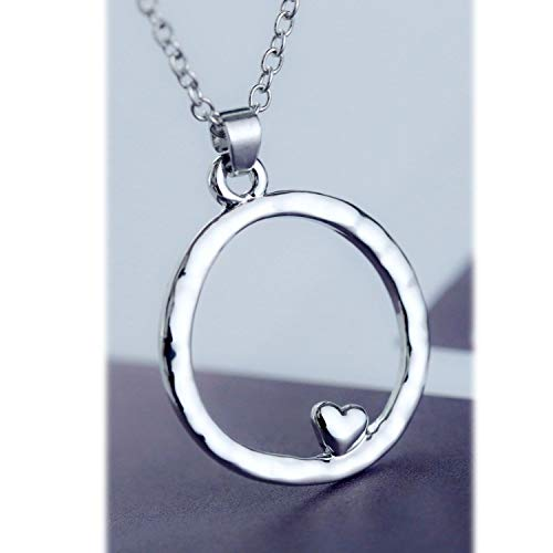 - Stunning Celebrity Hammered Charm Circle Pendant Necklace Chain Silver Necklace Pendant Jewelry for Women