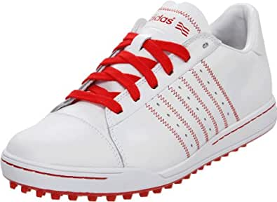 adidas Men's Adicross Golf Shoe,White/Red/Red,13 M US
