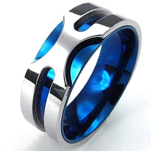 [Bishilin Stainless Steel Fashion Men's Rings Classic Blue US 12,Silver] (Cheap Roman Costumes)