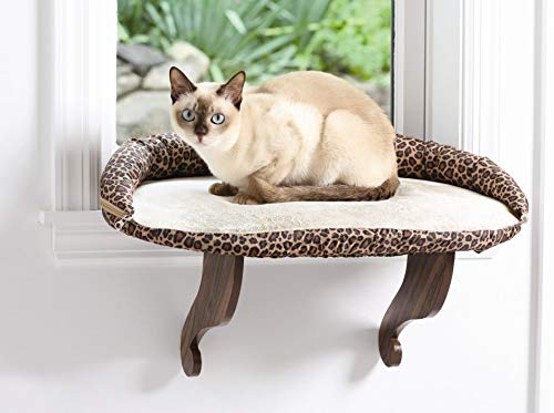 "Kitty Cat Window Perch with Bolster | 24""L x 16""W with Soft Cushion"
