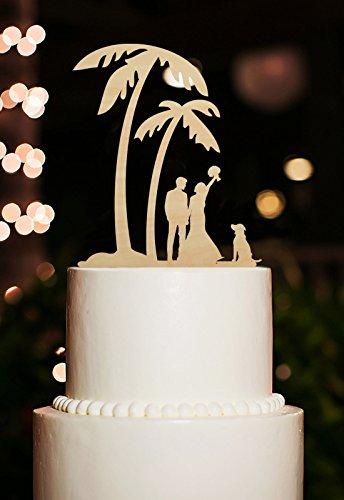 Amazon Com Banana Tree Wedding Cake Toppers Bride And Groom With