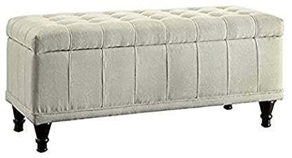 Terrific Inspire Q Rustic Sand Upholstered Tufted Storage Ottoman Bench For Bedroom Or Living Room Gmtry Best Dining Table And Chair Ideas Images Gmtryco