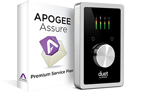 Apogee Duet USB Audio Interface for iPad & Mac with 3 Year Apogee Assure Premium Service Plan