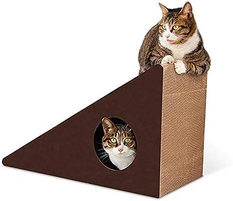 DZBMY Rascador para Gatos Triángulo Corrugado Pared Gato Garra De ...