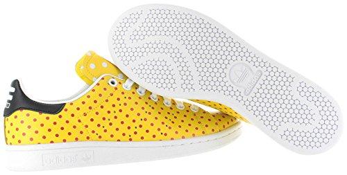 adidas hombres de la PW Stan Smith SPD Originals Zapato diario Yellow-Red-FtWwht