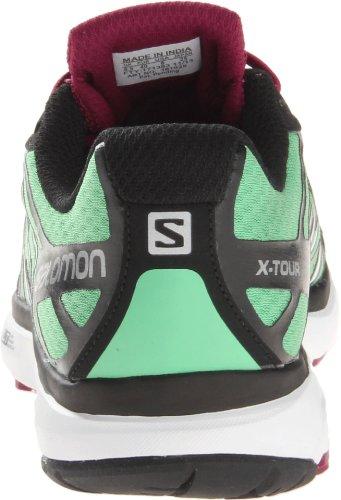 Salomon X TOUR W Scarpe da Corsa City Trail Running Verde Nero per Donna Contagrip