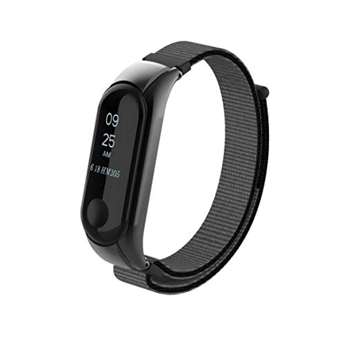 Fenebort Nylon Replacement Watch Band, Lightweight Breathable Nylon Adjustable Watch Strap With Double Elastic Buckle Nylon For XIAOMI MI Band 3(Dial is not ()