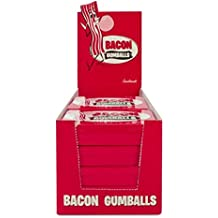 BULK Bacon Gumballs (12 Tins) - Bacon Flavored Gum Candy (12ct Retail Case with POP display)