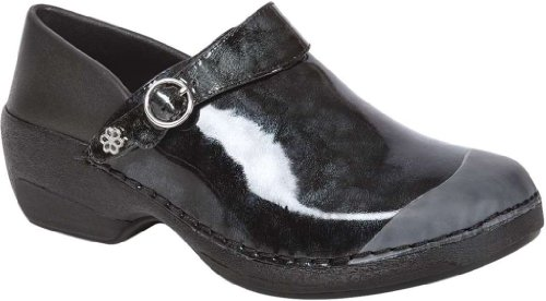 Womens Clog RH005 Marble Patent Black Work Shoes 4EurSole Leather Black xEq07Xnz