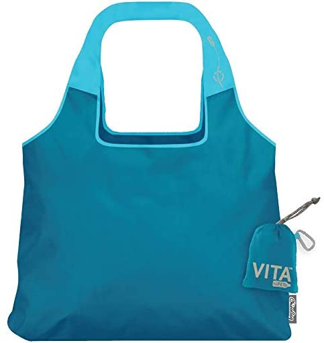 ChicoBag VITA rePETe Shoulder Tote Reusable Bag Blue