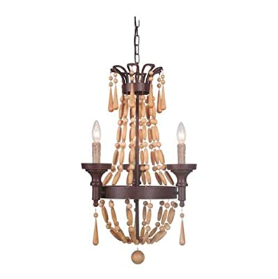 Jeremiah Lighting 36823 Berkshire 3 Light Candle Style Chandelier - 15.55 Inches,