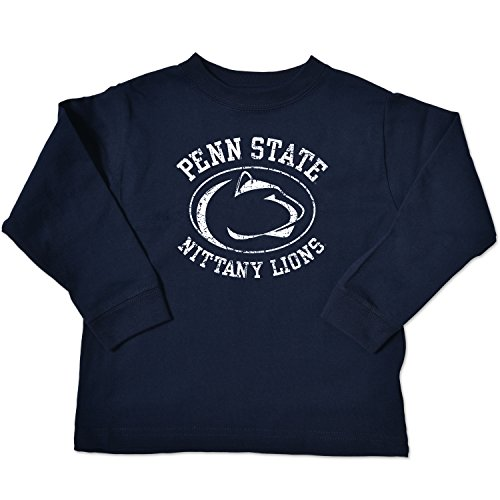 NCAA Penn State Nittany Lions Toddler Long Sleeve Tee, 3 Toddler, Navy