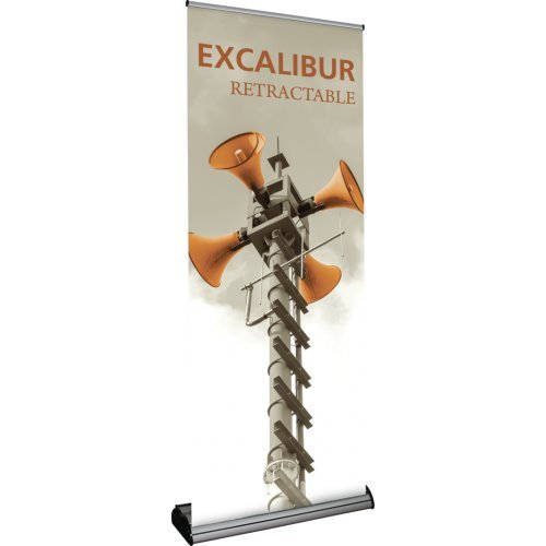 Exhibitor's Handbook EXC-800-S-1 Excalibur Retractable Banner Stand Base, Silver