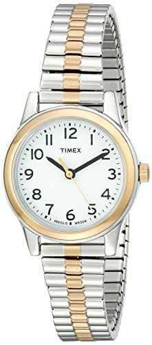 Timex Women's T2N068 Essex Avenue Two-Tone Stainless Steel Expansion Band Watch ()
