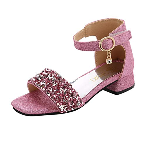 (Randolly Baby Shoes  Children Infant Kids Baby Girls Bling Sequins Roma Dance Princess Shoes Sandals Pink )