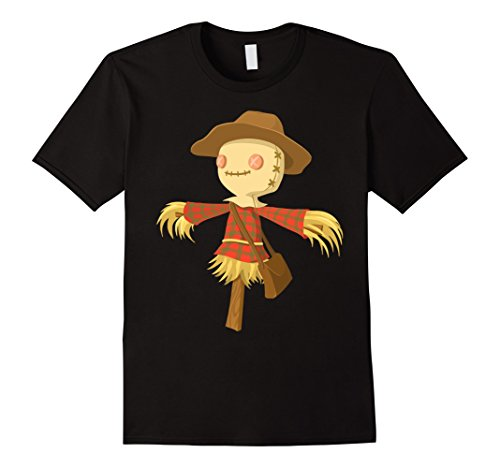 Mens Cute Scarecrow on a solid T-shirt for Halloween and Fun Medium (Halloween Scarecrow Quotes)