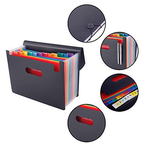 Scriptract Carpetas de Acordeón A4 12 Bolsillos Archivadores Escolares Clasificador Organizador de Archivos para Oficina Escuela (12 bolsillos): Amazon.es: ...