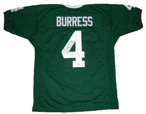 348a2b5b895f Signed Plaxico Burress Jersey -  4 Green Coa - Autographed College Jerseys  at Amazon s Sports Collectibles Store