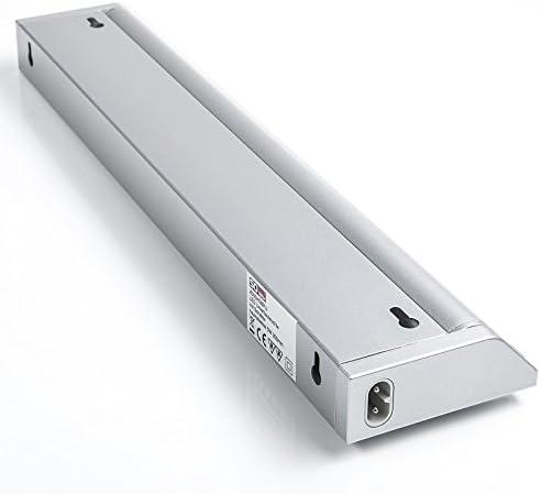 2er Set SO-TECH® LED Unterbauleuchten Alessia - schwenkbare Anbauleuchte mit Diffuser Scheibe, Schalter, Netz- und Verbindungskabel zum erweitern 10W / 580 mm